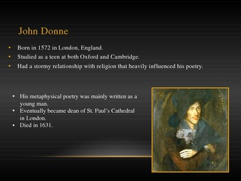 Metaphysical and Carpe Diem Poetry - Donne and Marvell