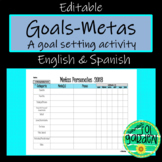Metas - Goals 2018 - A Goal Setting Activity for Spanish or Any Class