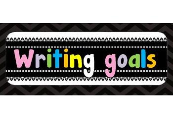 Metas de escritura (Writing Goals) English and Spanish