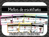 Metas de escritura (Writing Goals) English and Spanish