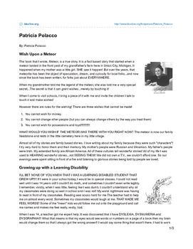 Meteor! by Patricia Polacco - Teaching Literary Skills with Picture Books