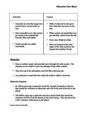 Meteorite Note Sheet