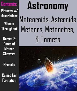 Comets, Meteors, Meteoroids, Meteorites, & Asteroids - Interactive PowerPoint