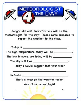 Meteorologist 4 the Day