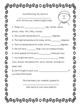 Meteorologist Script