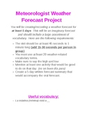 Meteorologist Weather Forecast Project