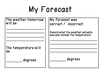 Meteorologist Weather Report for Primary