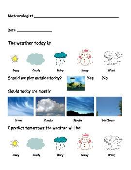 Meteorologist Worksheet