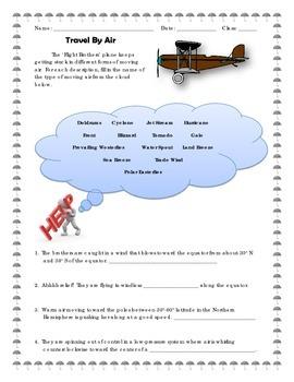 Meteorology - Travel By Air - Worksheet