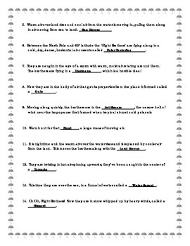 Meteorology - Travel By Air - Worksheet