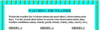 Meteorology Watching the Weather Making Weather Observations