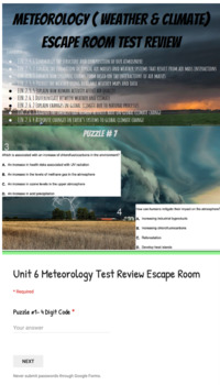 Meteorology: Weather & Climate ESCAPE ROOM & Test With Key