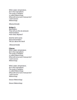 Meteorology (Weather) Song