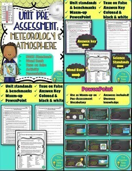 Weather, Climate and Atmosphere Interactive Notebook: Earth Science Unit Plan