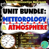 WEATHER, CLIMATE, AND ATMOSPHERE INTERACTIVE NOTEBOOK BUNDLE