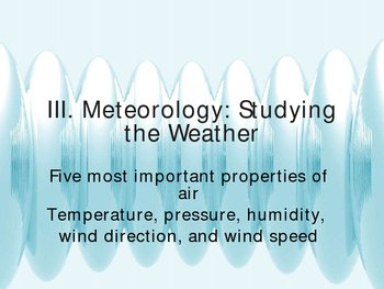 Meteorology and Studying the Weather