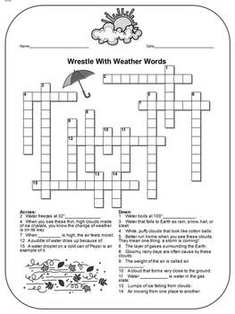 Weather review: differentiated crossword with a hidden message!