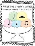 Music:  Meter Ice Cream Sundaes - Creating Meters in 2, 3 and 4 (more rhythms!)