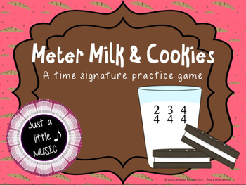 Meter Milk & Cookies--A Time Signature Matching Game for 2