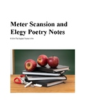 Meter Scansion and Elegy Poetry Notes
