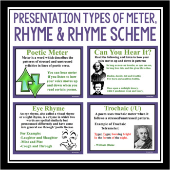 METER AND RHYME IN POETRY PRESENTATION & ACTIVITY