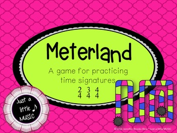 Meterland--A Time Signature Game for practicing 2/4, 3/4 a