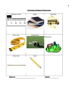 Meters and Centimeters-Complete with Practice Pages and Exit Tickets