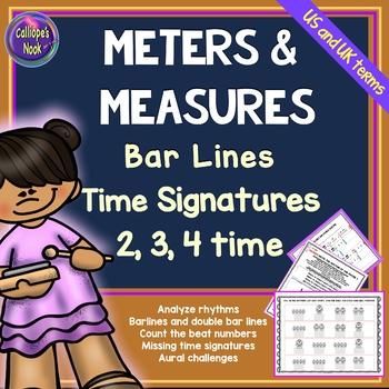 Meter & Measure Worksheets: Bar Lines, Time Signatures