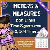 Meter & Measure Worksheets: Bar Lines, Time Signatures