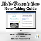Methamphetamine Awareness Note-Taking Guide - Online Dista