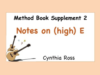 Method Book Supplement 2: Reading Notes on the (high) E String