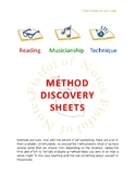 Method Discovery Sheets