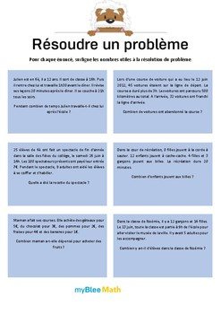 Méthode pour résoudre un problème 6 - Trouver des données utiles -CE1-CE2
