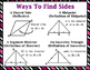 Congruent Triangles -  Proving Triangles Congruent & Similar Wall Posters