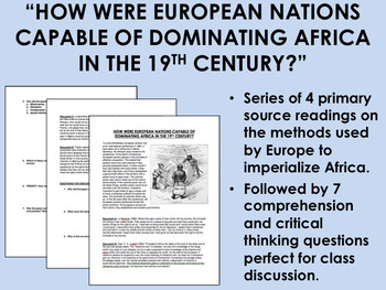 Methods Used by European Imperialists in the 19th Century - Global/World History