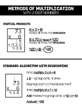 Methods for 2-Digit Multiplication
