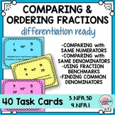 Comparing Fractions and Ordering Fractions Task Cards 3NFA3D 4NFA1