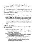 Methods for Creating a Strong Thesis