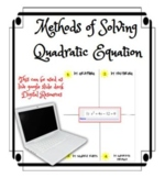 Methods for Solving Quadratic Equation DISTANCE LEARNING