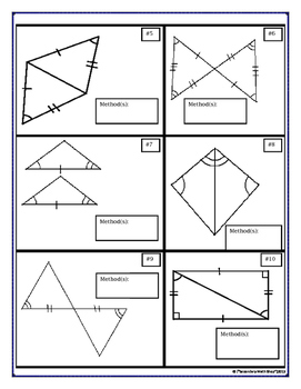Proving Triangles Congruent Cut, Match and Paste Activity | TpT