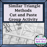 Similar Triangles - Proving Triangles Similar Cut, Match & Paste Group Activity