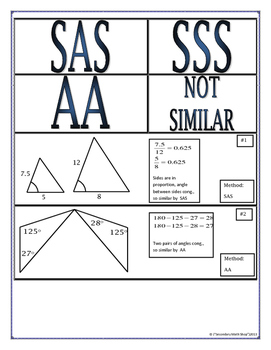 Proving Triangles Similar Cut Match Paste Group Activity Tpt