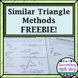 Methods of Proving Triangles Similar Quick Check FREEBIE!