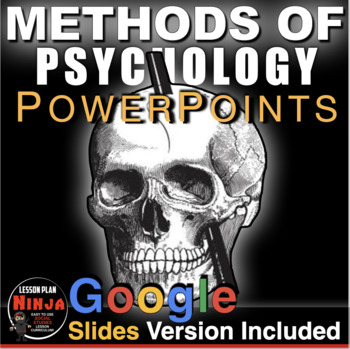 Methods of Psychology PowerPoints (Unit 2) w/Lecture Notes & Video Clips