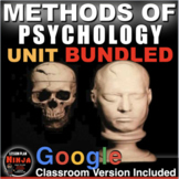 Methods of Psychology Unit: PPTs, Worksheets, Lesson Plans+Test (AP Psychology)