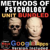 Methods of Psychology Unit: PPTs, Worksheets, Plans, Test
