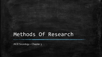 Sociology - Methods of Research - Chapter 3