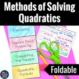 Quadratics Equations Foldable (Methods)