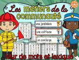 Métiers et membres de la communauté - mur de mots et lexique (74)