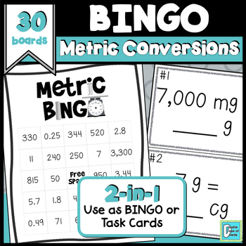 Metric BINGO and Task Cards
